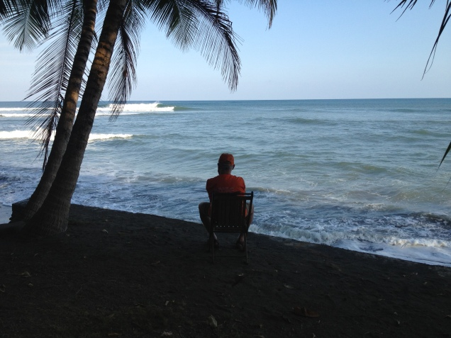 watching the surf out front