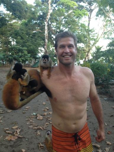 feeding the titi monkeys